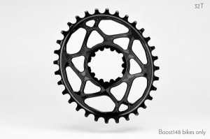 Tarcza ABSOLUTEBLACK SRAM GXP DM oval 32t boost