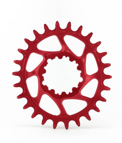Tarcza GARBARUK SRAM GXP/DUB DM oval 30t boost red-17797